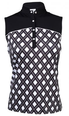 b83b1bb610db7e Daily Sports Ladies   Plus Size Brie Sleeveless Golf Shirts - Black