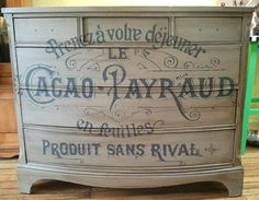 The Graphics Fairy Dresser featuring French Typography on Country Design Home