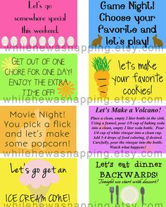 Kid's Printable Coupons - Easter Basket Stuffer I made these for the kids' baskets...