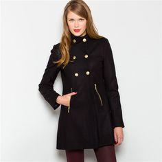 Mademoiselle R Wool Umbrella-Style Coat