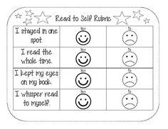 Daily 5 reflection rubrics for students. Easy to use and a great tool for them to track their growth and progress!