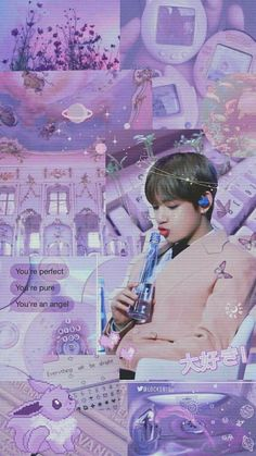 31 Ideas Taehyung Purple Aesthetic Wallpaper For 2019 K Wallpaper, Pastel Wallpaper, Lock Screen Wallpaper, Purple Aesthetic, Kpop Aesthetic, Bts Taehyung, Bts Bangtan Boy, Foto Jungkook, Ipod 6