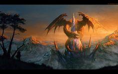 Dragon Castle, Randis Albion on ArtStation at https://www.artstation.com/artwork/Oa1Gv