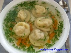 Polish Recipes, Polish Food, Soup Recipes, Food And Drink, Meals, Dishes, Chicken, Cooking, Ethnic Recipes