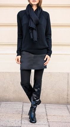 I have everything 'cept the scarf. New work outfit! Work Fashion, Fashion Design, Autumn Winter Fashion, Fall Fashion, Black Sweaters, Style Me, Style Blog, Jeans, Winter Outfits