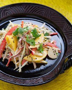 Rose Reisman shares her mango coleslaw recipe. Coleslaw, Business Website, Clean Recipes, Salads, Mango, Magazine, Ethnic Recipes, Food, Manga