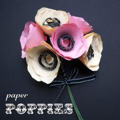 diy Paper Poppies tutorial