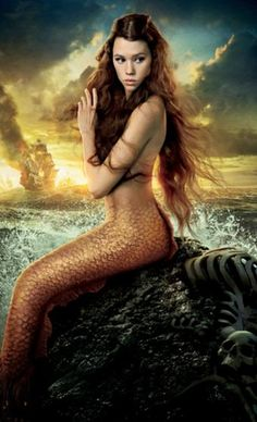 Spanish-French actress and model Astrid Berges-Frisbey plays the mermaid Syrena in On Stranger Tides, the fourth entry in Disney's Pirates of the Caribbean franchise. Film Pirates, The Pirates, Pirates Of The Caribbean, Caribbean Art, Mermaid Poster, Mermaid Art, Ariel Mermaid, Mermaid Tails, Mermaid Paintings
