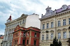 Typical buildings in the center of Prague royalty-free stock photo