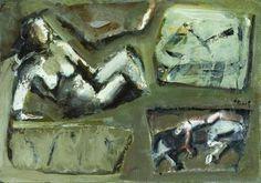 Mario Rimoldi, Composizione con nudo, primi anni 50, Museo di Arte Moderna Mario Rimoldi