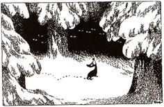 Sorry-oo the dog, surrounded by wolves -- Moominland Midwinter: by Tove Jansson Moomin Valley, Tove Jansson, Norse Mythology, Like A Cat, Big Love, All Art, Art Drawings, Art Sketches, Fairy Tales