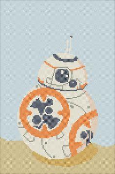 BOGO FREE! cross stitch -BB-8 Star wars droid - BB8 - pdf cross stitch pattern instant download #85