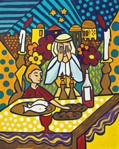 Shabbat Candles by Ruth Porat