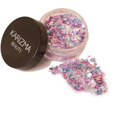 Unicorn Chunky Glitter Face Body Nails Hair Festival Gems Beauty... (7.98 AUD) ❤ liked on Polyvore featuring beauty products