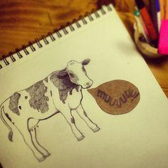 Ilustración de una vaca © All Rights Reserved