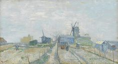 Montmartre: Windmills and Allotments, 1887, Vincent van Gogh, Van Gogh Museum, Amsterdam (Vincent van Gogh Foundation)