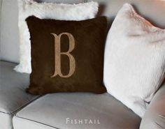 #LibbyBunting Monogram Hide Pillows / Kyle Bunting #monogram #monogrammed