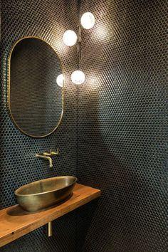 Beautiful Bathrooms, Modern Bathroom, Small Bathroom, Master Bathroom, Bad Inspiration, Bathroom Inspiration, Restaurant Interior Design, Bathroom Interior Design, Bar Deco