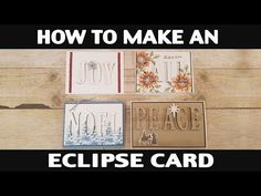 Stampin' Up! Demonstrator Jill Olsen demonstrates how you make an eclipse card. This technique really adds to card making. Card Making Tips, Card Making Tutorials, Card Making Techniques, Making Ideas, Video Tutorials, Fancy Fold Cards, Folded Cards, Alphabet Cards, Card Sketches