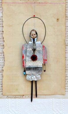 Mixed Media Art Doll Nim by Indiandollartworks on Etsy, $55.00