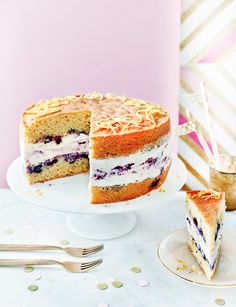 Lemon blueberry cheesecake - Cheesecake... in a cake?! Need we say more...