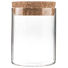 Small Glass Cylinder Jar with Cork Lid- perfect for tea!