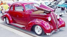 1936 pink car - Google Search Candy Apple Red, Candy Apples, Hudson Terraplane, Custom Candy, Simply Red, Toyota Camry, Toys For Boys, Custom Paint, Old Cars