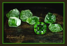 Rough and Cut Peridots from Pakistan of quite large sizes. The faceted gem here is fifty eight carat, rich in color and cut wonderfully. These are very pleasant gems to work with.