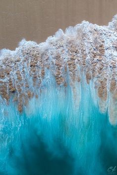 Aerial photograph of a shorebreak wave racing up the beach after it breaks. The sand and foam are mixed in with the darker water to form an abstract design. Aerial Photography, Travel Photography, Photography Tips, Digital Photography, Summer Photography, Photography Equipment, Nature Photography, Drones, Clark Little Photography