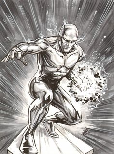 Silver Surfer Sketch (LoRes) by Eric-Henson - Top SuperHeroes Comic Book Characters, Marvel Characters, Comic Books Art, Comic Art, Marvel Comics Superheroes, Marvel Heroes, Captain Marvel, Hulk Marvel, Silver Surfer Wallpaper