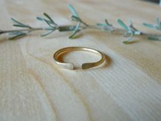 Simple Brass Ring with Squared Edge