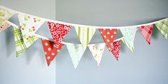 Christmas Bunting Banner Holiday Party Pennant door TheBuntingPlace