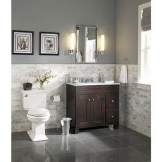 allen + roth Palencia Espresso Contemporary Bathroom Vanity | Lowe's Canada
