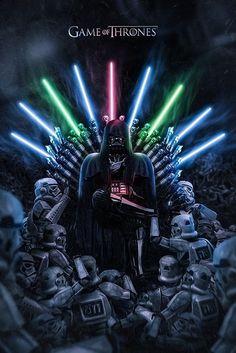 Game of Wars: Darth Vader, lightsaber, stromtrooper, Game of Thrones, sword