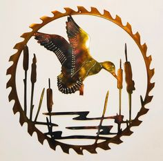 Excited to share this item from my shop: Mallard Duck Landing On Pond Sawblade Wildlife Indoor Or Outdoor Metal Art Outdoor Metal Wall Art, Metal Tree Wall Art, Metal Artwork, Art Themes, Metal Walls, Metal Working, Landing, Art Decor, Art Gallery