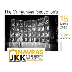The Manganiyar Seduction brings to you musicians from the the Manganiyar community of Rajasthan. These folk musicians perform and sing in accompaniment to the lute, several percussions and reed instruments - suddenly and effortlessly as a gust of desert wind moves a dune.   Watch this enthralling performance directed by Roysten Abel @ Navras on 15th March from 7pm onward.