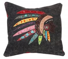 Black Bomber Chief Pillow by Double J Saddlery