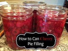 Iowa Mom: How to Can Cherry Pie Filling