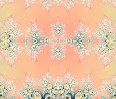 Fractal: Frosty Sunrise. This design is available on Fabric, Wallpaper, Gift-wrap and Decals. Prices start at $5.00