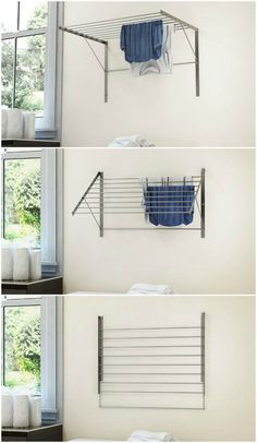 10 space-saving drying racks for small spaces – Living in a shoebox – Laundry Room İdeas 2020 Laundry Room Drying Rack, Laundry Room Storage, Laundry Rack, Laundry Hanging Rack, Ikea Laundry Room, Laundry Closet, Wall Storage, Bathroom Storage, Diy Clothes Rack