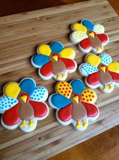 thanksgiving turkey* flower cutter to make turkey cookie
