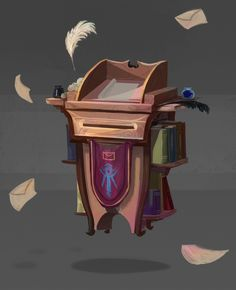 Mage Mailbox, Jack Gallagher on ArtStation at https://www.artstation.com/artwork/nBNB1