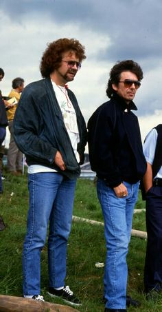 Jeff Lynne and George Harrison.
