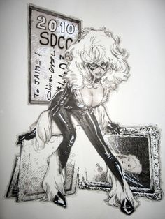psicomana:  Olivier Coipel Black Cat - Felicia Hardy [The Amazing Spider-Man]