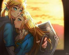"""Link """"the hero of the wild"""" and Princess Zelda from The legend of Zelda: Breath of the wild. i did this comic for the zelink month 2018 in t. The Legend Of Zelda, Legend Of Zelda Memes, Legend Of Zelda Breath, Wind Waker, Breath Of The Wild, Link Botw, Image Zelda, Princesa Zelda, Link Zelda"""