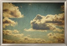 Vintage Sky With Clouds Art Print by pashabo at Art.com
