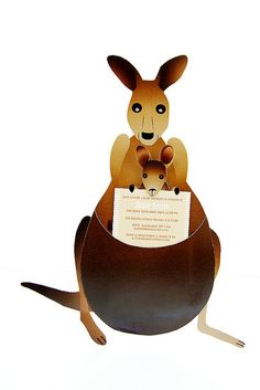10 Kangaroo and Joey Baby Shower Invitations by Invitations By Jennifer, via Flickr
