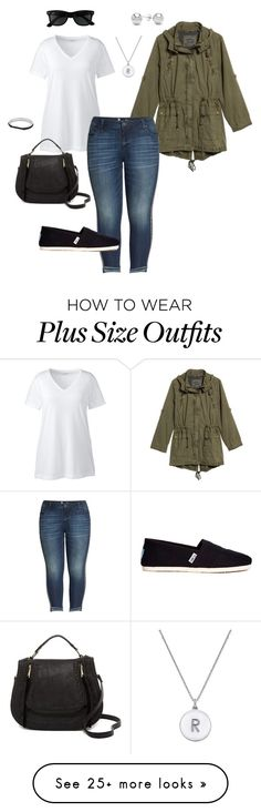 """""""January Wardrobe 3- Plus Size Outfit"""" by boswell0617 on Polyvore featuring Levi's, Kate Spade, Lands' End, KUT from the Kloth, Ray-Ban, TOMS, Urban Expressions, Jewelonfire and plus size clothing"""