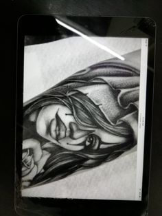 Angel Drawing, Portrait, Tattoos, Drawings, Art, Art Background, Tatuajes, Headshot Photography, Tattoo