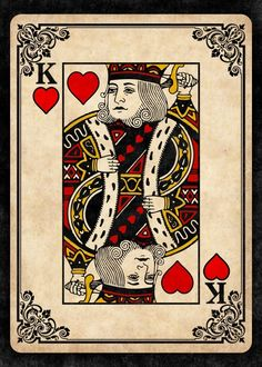King of hearts by remus brailoiu metal posters. King Of Hearts Card, Ace Of Hearts, King Of Hearts Tattoo, Hearts Playing Cards, Playing Cards Art, Poker King, Poker Tattoo, King Card, Card Tattoo